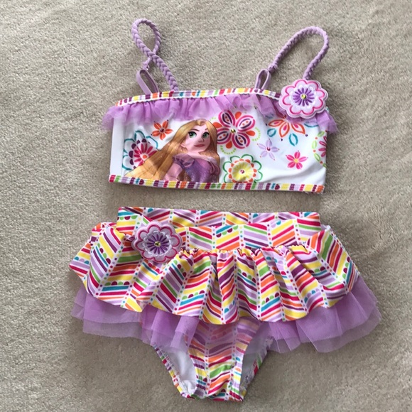 d3fe4d28c94ef Disney Swim   Girls Rapunzel Two Piece Bathing Suit   Poshmark